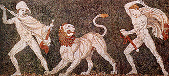 Pella - Lion hunt mosaic