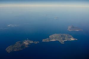 Aeolian Islands - Aerial view of the Aeolian Islands