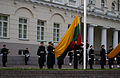 Lithuanian flag rising at the President Palace (8123262388).jpg