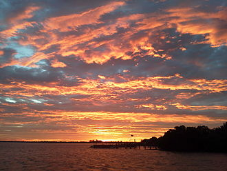 Sunrise - Sunrise over Placida Harbor, Florida