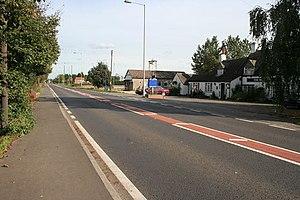 A1175 road - A1175 at Hop Pole