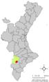 Localització de Saix respecte el País Valencià.png
