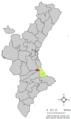 Localització de Simat de la Valldigna respecte del País Valencià.png