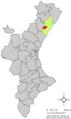 Localització de Vilafamés respecte del País Valencià.png