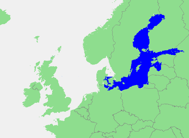 Locatie Oostzee