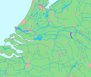 Maas–Waal Canal - Location of the Maas–Waal Canal