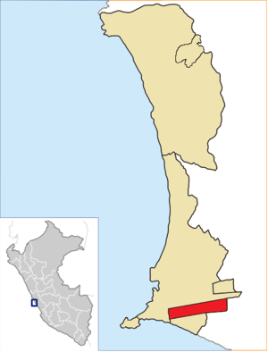 Bellavista District - Image: Location of the district Bellavista in Callao (2)