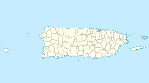 Location of Cataño in Puerto Rico