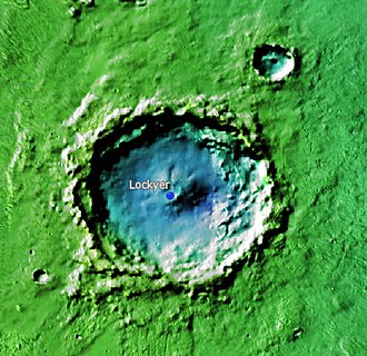 Lockyer (Martian crater) - Location of Lockyer Crater