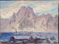 Lofoten in Violet. Study (Anna Boberg) - Nationalmuseum - 20515.tif