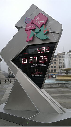 london 2012 paralympics / olympics countdown clock
