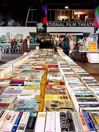 BFI Southbank - The second-hand book sale in front of BFI Southbank