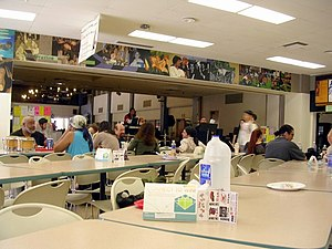 Long Beach City College - The Liberal Arts Campus' cafeteria during a lunchtime jazz performance in 2007