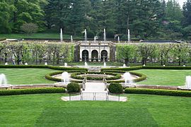 Gentil Main Fountains At Longwood Gardens