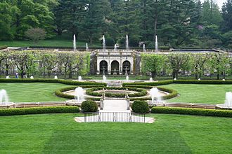 Longwood Gardens - The Main Fountains at Longwood Gardens