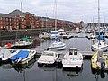 Looking East at Swansea Marina - geograph.org.uk - 633686.jpg
