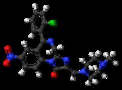 Loprazolam molecule ball.png
