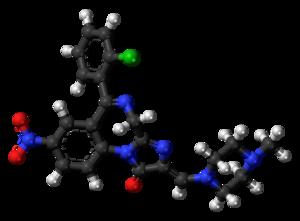 Loprazolam - Image: Loprazolam molecule ball