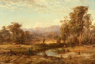 Louis buvelot macedon ranges 1874