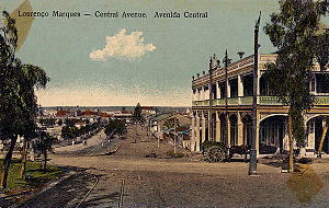 Mozambique - View of the Central Avenue in Lourenço Marques, now Maputo, ca. 1905;