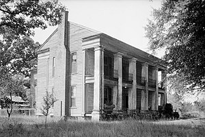 Henry House (Marion, Alabama) - The house as it appeared in 1935, when recorded by the Historic American Buildings Survey.