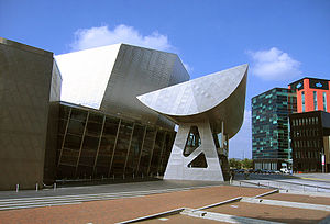 The Lowry - Side view of the entrance