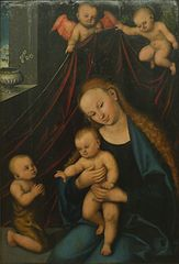 Virgin and Child adored by the infant St John