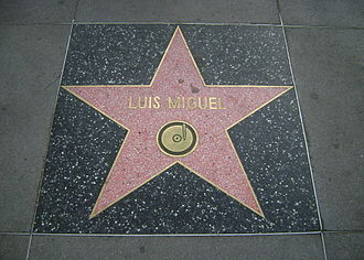 Luis Miguel - Luis Miguel's star on the Hollywood Walk of Fame