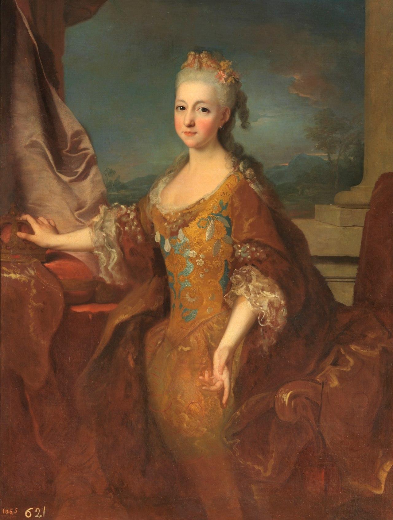 Portrait de la reine Louise-Élisabeth d'Espagne, peinte par Jean Ranc (1724), musée du Prado.