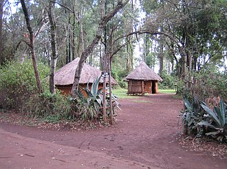 Nilotic peoples - A Luo village in Kenya