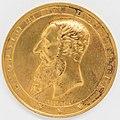 Médaille dorée Léopold Roi des Belges par Jules Maire, Bruxelles, avers 1888.jpg