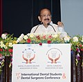 M. Venkaiah Naidu addressing the 11th International Dental Students & 5th Dental Surgeons Conference, jointly organised by the Dental Students Welfare Association and Dental Surgeons Association, in New Delhi.JPG
