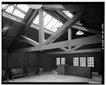 MAIN ROOM, LOOKING EAST - Kendall Lake Shelter, Truxell Road, Peninsula, Summit County, OH HABS OHIO,77-PEN.V,1-6.tif
