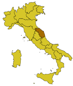 Location of Folignano