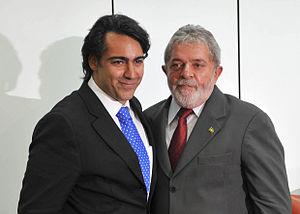 Marco Enríquez-Ominami - Enríquez-Ominami with President of Brazil Luiz Inácio Lula da Silva.
