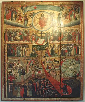 The last Judgment - an icon 17th cent. from Li...