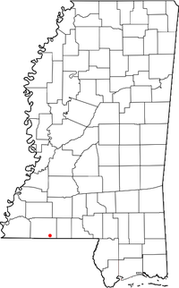 Location of Gillsburg, Mississippi