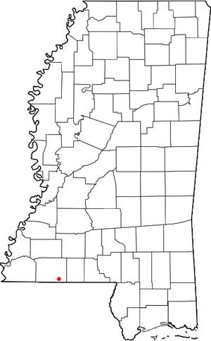 Gillsburg, Mississippi - Location of Gillsburg, Mississippi