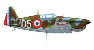 Morane-Saulnier M.S.406 - Morane-Saulnier MS.406 N° 847, white 05 of Groupe de Chasse I/6, May 1940