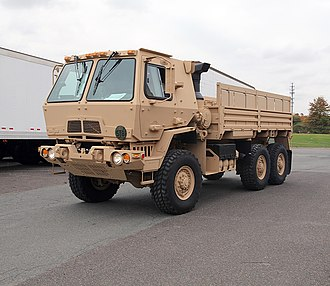 Family of Medium Tactical Vehicles - An Oshkosh-produced M1083 A1P2 5-ton MTV in A-kit configuration