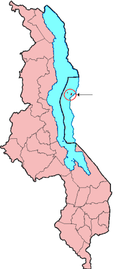 Location of Likoma District in Malawi