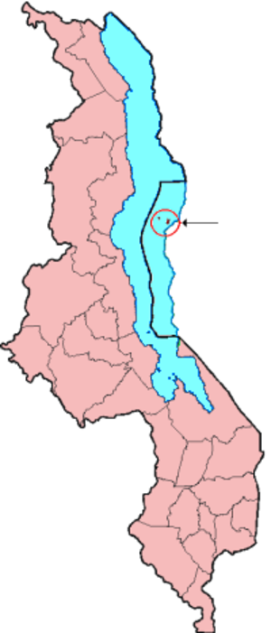 Likoma District - Location of Likoma District in Malawi