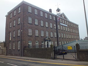 Silk industry of Cheshire - Chester Road Mill, with the date 1790 above the door.