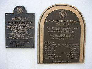 Madame John's Legacy - Image: Madam Johns Legacy Plaques
