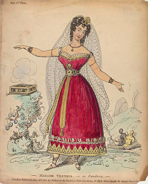 Olympic Theatre - Vestris as Pandora in Olympic Revels, 1831