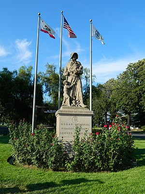 Upland, California - Madonna of the Trail statue in Upland