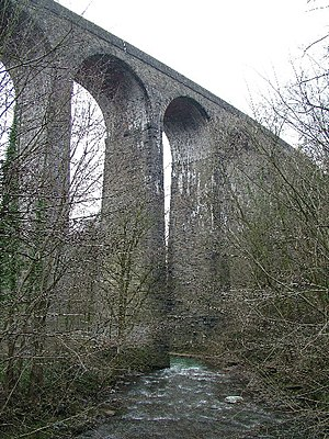 Maesycwmmer - Centre section of the Maesycwmmer Viaduct.