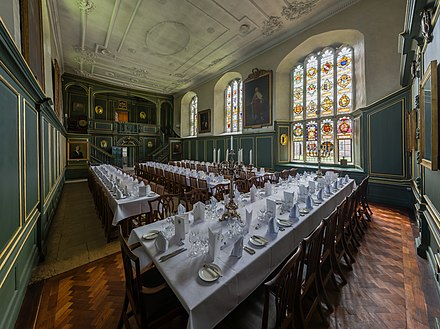 The hall in 2014 Magdalene College Dining Hall, Cambridge, UK - Diliff - sans lens flares.jpg