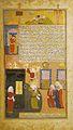 "Mahoma y Ali ,purifican la Kaaba de idolos . Miniatura del ""Raudat al Safa"" de Mir Havant Shiraz, Iran, 1585-1595.jpg"