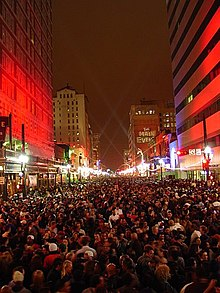Downtown during Super Bowl XXXVIII